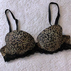 Jezebel Leopard Print Push-Up Bra